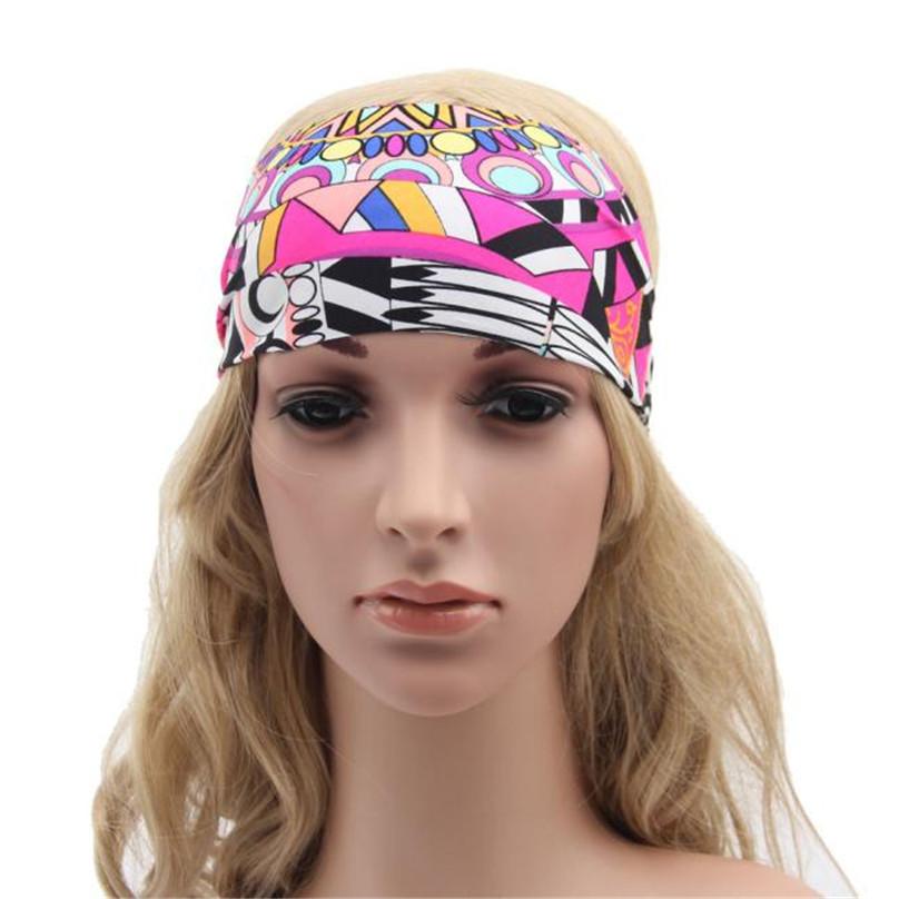 mujeres accesorios para el cabello diadema ancha amplia turbante para seora boho geomtrica bandas para