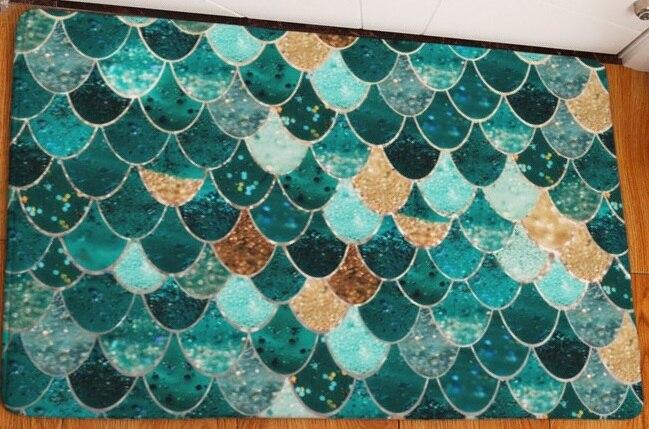 CAMMITEVER Beautiful Diamond Stars Waves Scales Anti-skid Toilet Floor Mat Bedroom Kitchen Doormat Area Rug Living Room Carpet