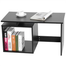 67cm/ 26.4inch Modern Stylish Coffee Tea Table Living Room Desk Tables with Base Storage Shelf(China)