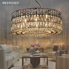 Vintage Lustre En Cristal Luminaire Rond Suspendu Éclairage pour Restaurant Foyer Cristal Lampe Accueil Luminaires