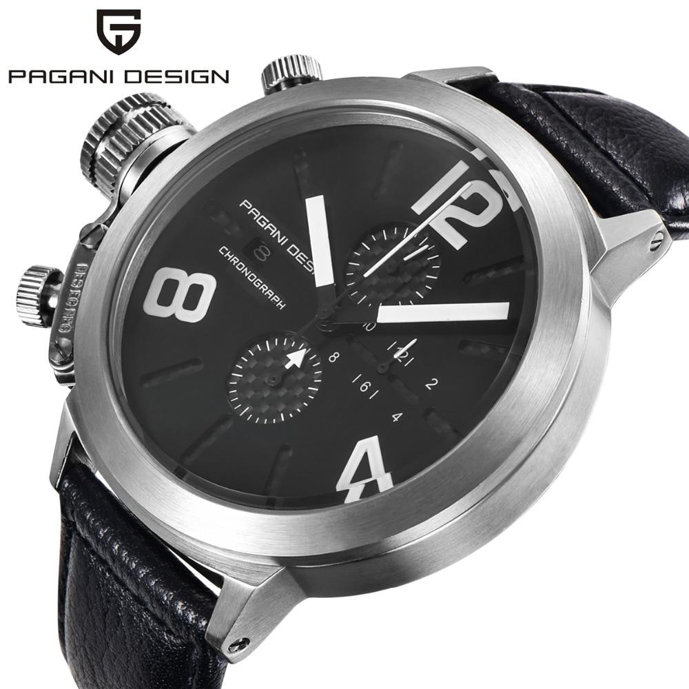 ФОТО Big Dial Unique Design Luxury Brand PAGANI DESIGN Multifunction Waterproof Quartz Watch Men Military Watches Relogio Masculino