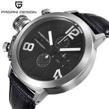 Big Dial Unique Design Luxury Brand PAGANI DESIGN Multifunction Waterproof Quartz Watch Men Military Watches Relogio Masculino
