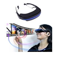 Hot 52 4 3 Virtual Wide Screen Video Glasses Eyewear Mobile Private Theater Digital With Card