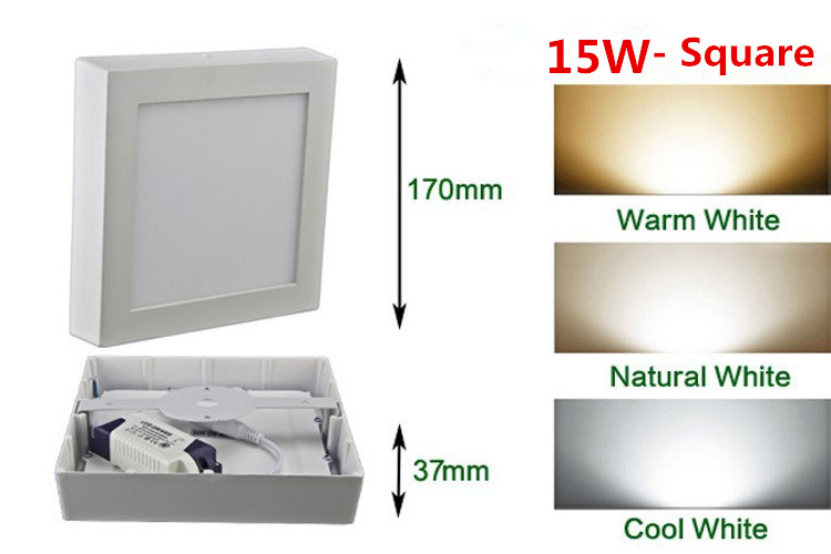 HTB1VpV.adfvK1RjSszhq6AcGFXaL LED Surface Ceiling Light 9W 15W 25W Ceiling Lamp AC85-265V Driver Included Round Square Indoor Panel Light For Home Decor