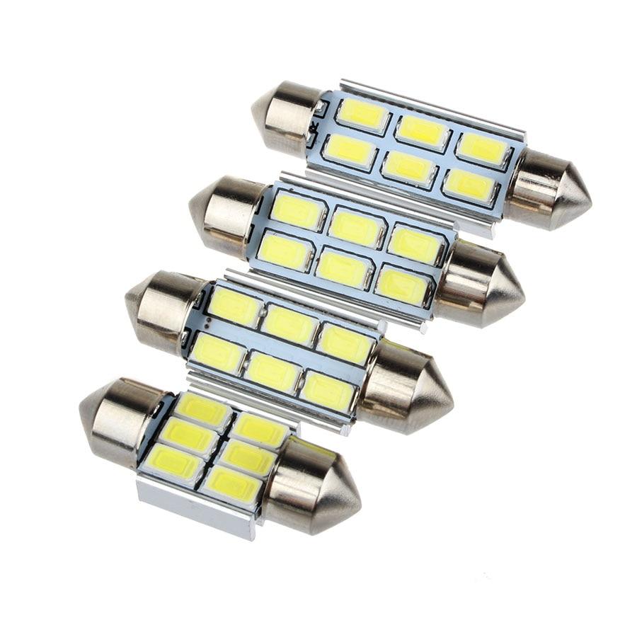 10PCS DE3425//DE3423 FESTOON 20-LED 35MM INTERIOR DOME LIGHT BULB BLUE 5-PAIRS