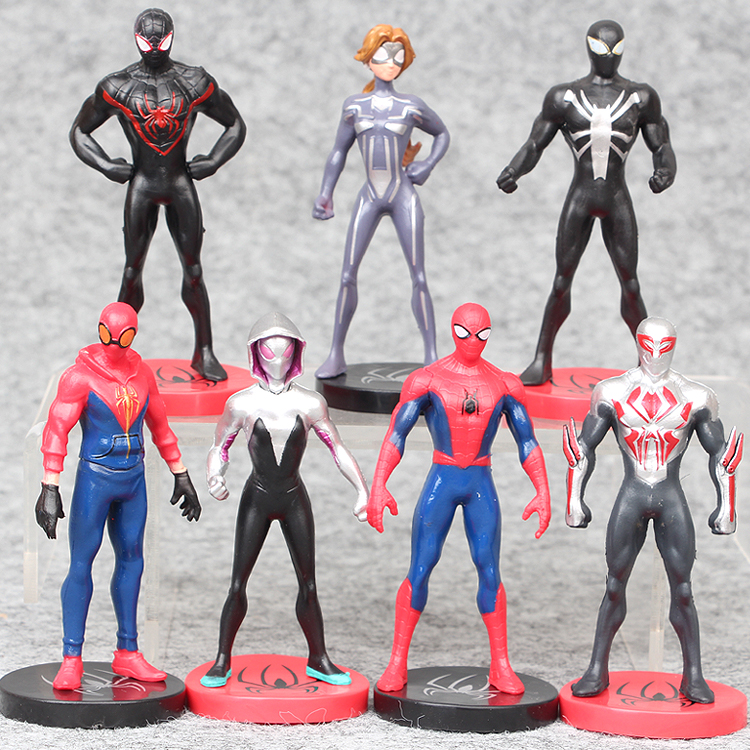 Movie SpiderMan Homecoming Gwen Stacy Spider Woman Spider Man 2099 PVC Cartoon Action Figure Toys 9CM