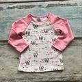 Meninas do bebê roupas raglan raglan encabeça V-dia meninas rosa do amor do coração raglans Outono top meninas dia Dos Namorados de confeiteiro raglans tshirt