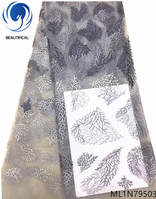 Beautifical wholesale tulle lace fabric french net lace fabric cheap african lace fabric high quality 5yards/lot arrival ML1N795