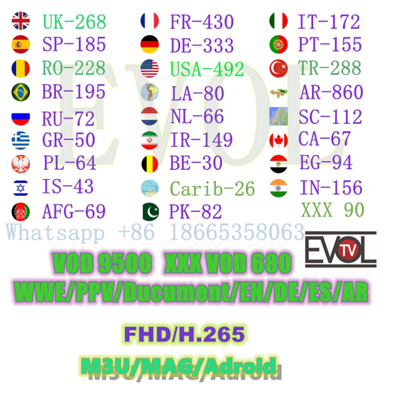 Aliexpress com : Buy USA UK france Brasil European german EVDTV iptv