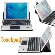 Universal ultra thin aluminium dechatable bluetooth tastatur w/touchpad und verformbaren case für asus zenpad 10 z300 z300cl 10,1″