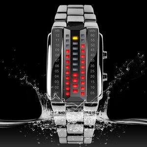 Image 4 - SKMEI Men Women Lovers Sport Digital Watch Fashion Couple Clock Watches Top Brand Luxury Alloy Strap Man Woman reloj hombre 1013