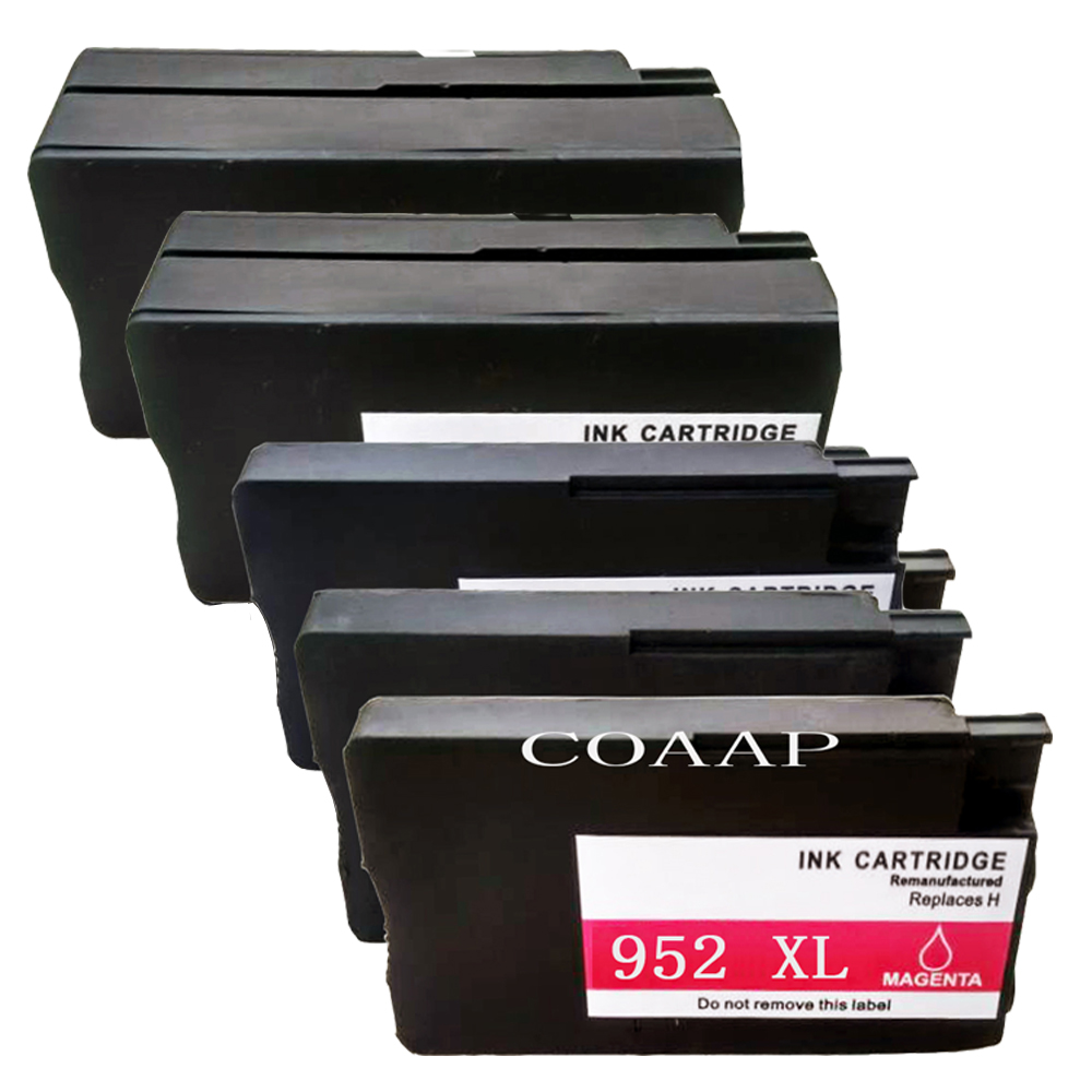 5PK Refillable ink cartridge for Compatible HP 952 XL Officejet 8745 8746 8747 8200 8210 8216 8715 8716 Printer
