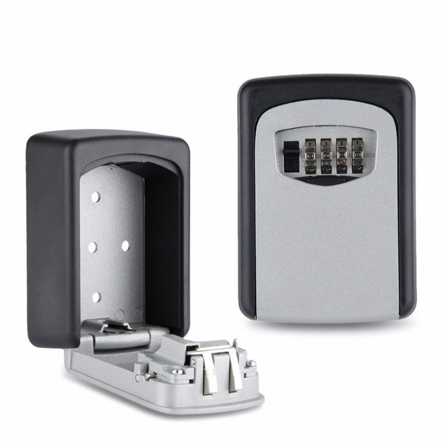 Safety Home Durable Designed Storage Box Money Key Hider 4 Digit Security Secret Code Lock Home Gift Can be use indoor/outdoor,