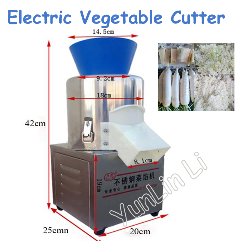 180W Commercial Vegetable Cutter Electric Food Grinder Steel Ginger Chopping Machine Dumpling Stuffing Machine 20 Type