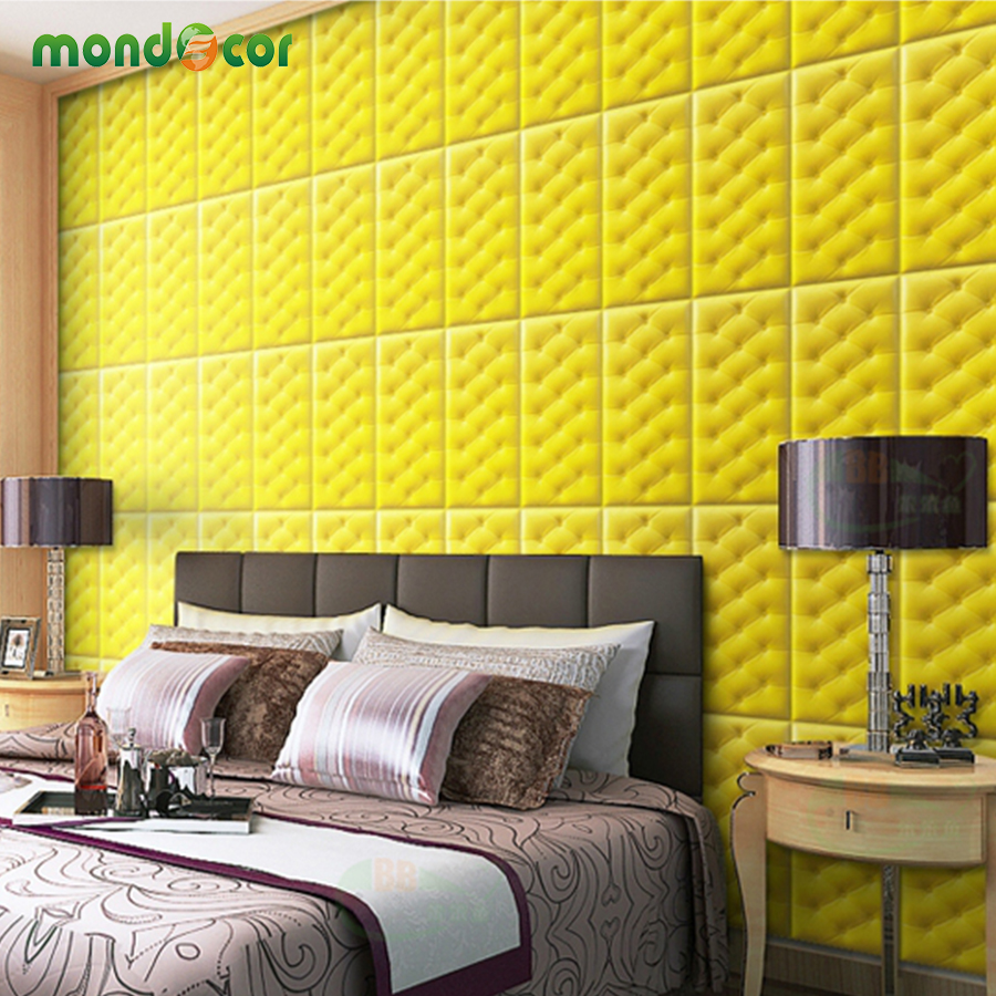 DIY Home Decor Waterproof 3D Wall Stickers Soft Bag Pattern 3D Wall Decal Self Adhesive Wallpaper For Kids Bedroom Living Room цена