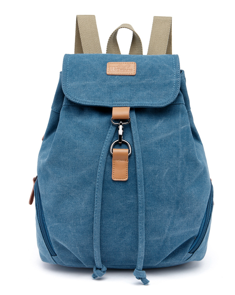 ФОТО Autumn and winter college wind mini shoulder bag simple canvas leisure Korean version of the trend of small backpack travel
