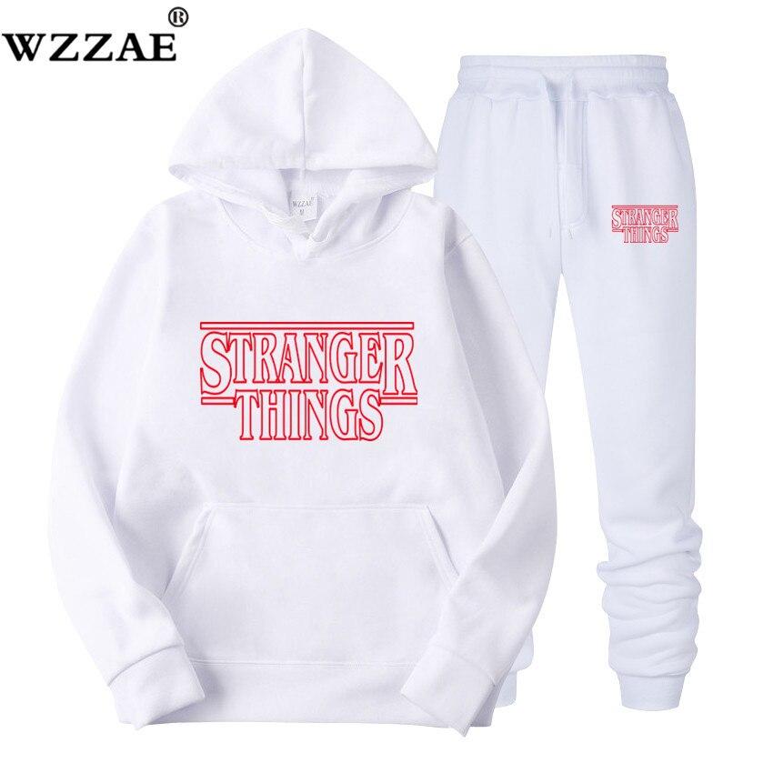 2019 Brand New Fashion Stranger Things Men Sportswear Print Men Hoodies Pullover Hip Hop Mens Tracksuit Sweatshirts Clothing