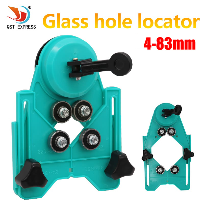 New Adjustable 4-83mm Diamond Drill Bit Tile Glass Hole Saw Core Bit Guide With Vacuum Base Sucker Tile Glass openings Locator