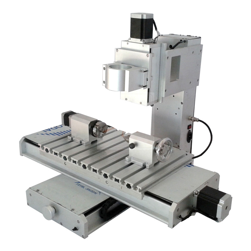 Mini CNC router 3040 4axis column type cutting engraving machine frame