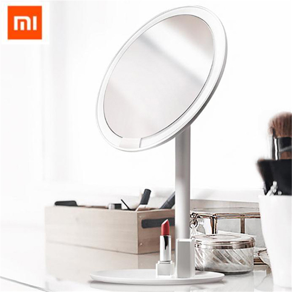 New Arrival AML004 Makeup Mirrors Rechargeable Brightness Adjustable LED HD Makeup Daylight Mirror From Xiaomi Youpin