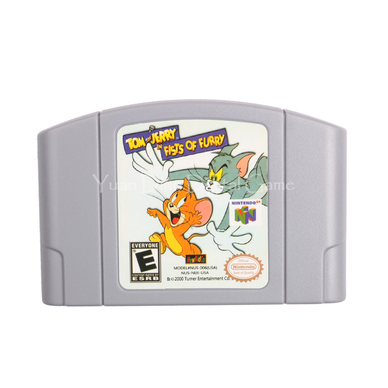 Nintendo N64 Video Game Cartridge Console Card Tom and Jerry in Fists of Furry English Language