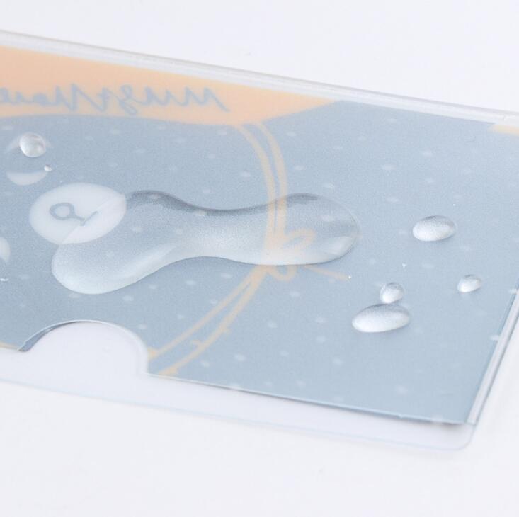 Краткое стиль двойной слой прозрачного пвх-карта графитопластов автобус банк id-карты случае держатель