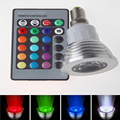 Dimmable E14 RGB Spotlight LED Bulb Light 16 Colors Change 85-265V 110V 220V Lampada 6W lamp with Wireless Remote Controller