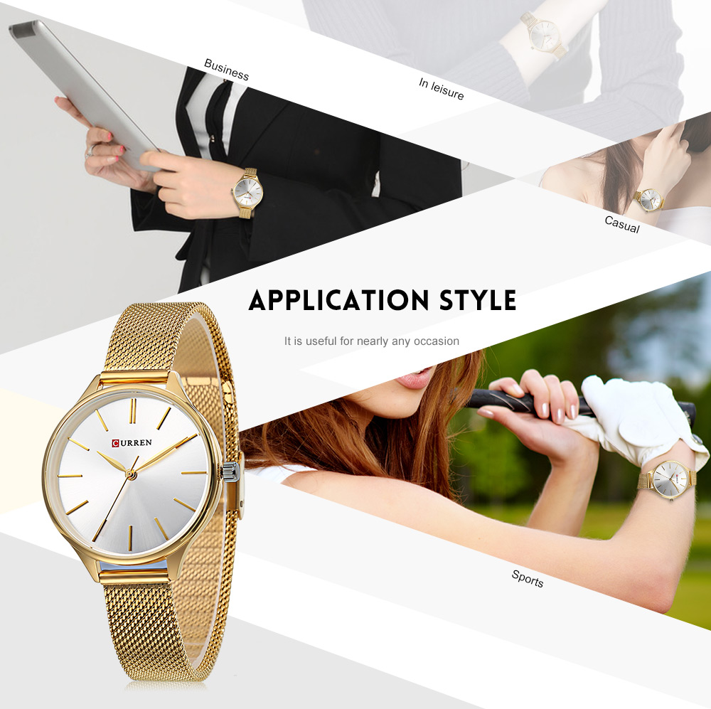 Curren 9024 Women'S Fashion Casual Dress Quartz Watch Luxury Brand ...