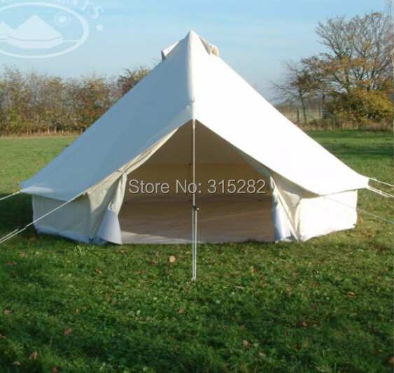 2018 High Quality Bell tent/Tipi tent 5 8 person 4 season aluminum rod outdoor c&ing Canvas tent Free shipping-in Tents from Sports u0026 Entertainment on ... & 2018 High Quality Bell tent/Tipi tent 5 8 person 4 season aluminum ...