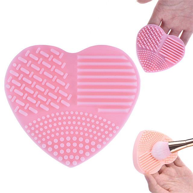 Heart Shape Make up Brushes Cleaning Scrubber 3