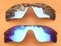 Серебристый хром и Синий 2 Шт. Зеркало Поляризованных Сменные Линзы Для RadarLock Путь Солнцезащитные Очки Кадров 100% UVA и UVB Защиты
