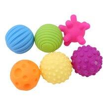 Balle Tactile pour bébé, 6 pièces, toucher à la main, entraînement, Massage doux, jouets pour enfants