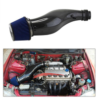 Real Carbon Fiber Air Intake Pipe for Honda Civic 92 00 EG EK with Air Filter Engine Cold Intake Manifold Hose