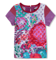 Catimini 2016 new Catimini girl red printed SHORT sleeve t-shirt T-shirt of the girls catimini girls clothing 6