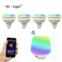 Milight MR16 Spot Light DC12V 2 4G Wireless Dimmable Led Bulb RGB CCT Led Spotlight Smart