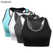 VEQKING – soutien-gorge de Sport rembourré sans armature, brassière de Racerback à fort Impact, pour l'entraînement physique et le Yoga, 2XL