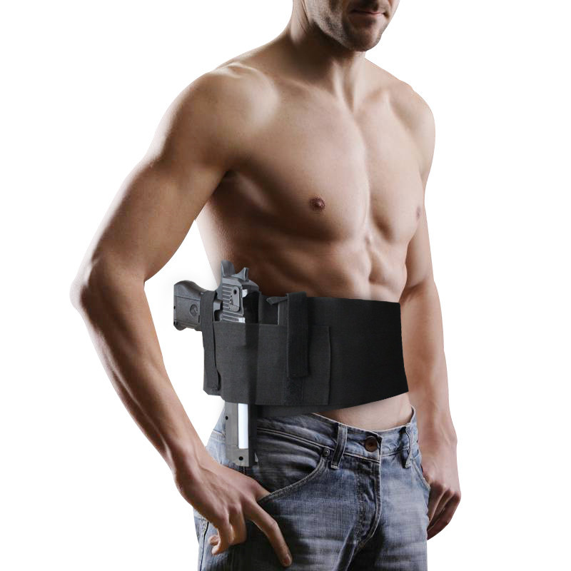 Tactical Pistol Concealed Carry Holster Padded Handgun Pouch Shooting Waist Gun Bag Ankle Leg Case Military Invisible Bag