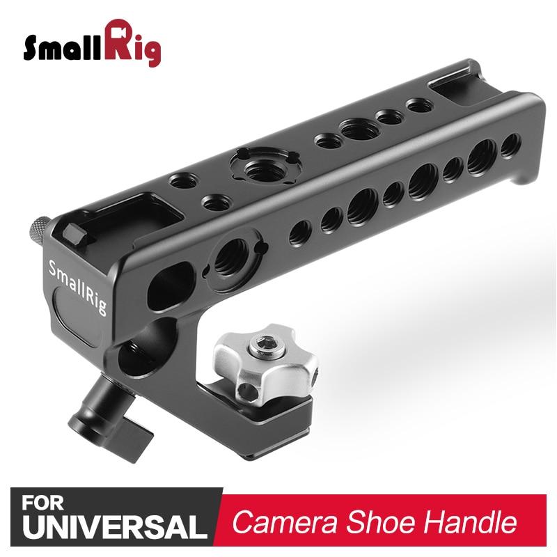 Petite caméra vidéo poignée poignée poignée stabilisateur libération rapide chaussure poignée pour caméras poche prise de vue poignée supérieure poignée latérale 2094