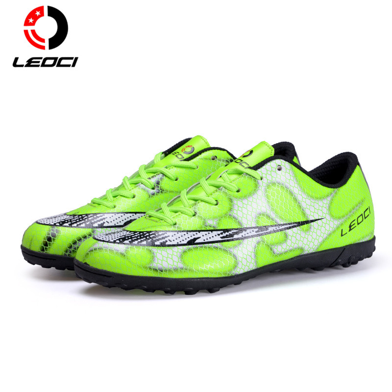 LEOCI Drop Shipping Men Football Shoes Boys Soccer Boots Football Training Soccer Shoes Sports Football Boots Kids 33-44 tiebao e1018c professional kids indoor football boots turf racing soccer boots training football shoes