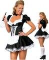 Zt8181 envío gratis francés traje de mucama uniforme adulto atractivo Dress up cosplay sin fur tamaño s,ml xl, 2xl, 3xl, 4XL