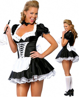 Free Shipping Zt8181 French Maid Costume Uniform Sexy Adult Dress Up Cosplay Without Fur Brush Size