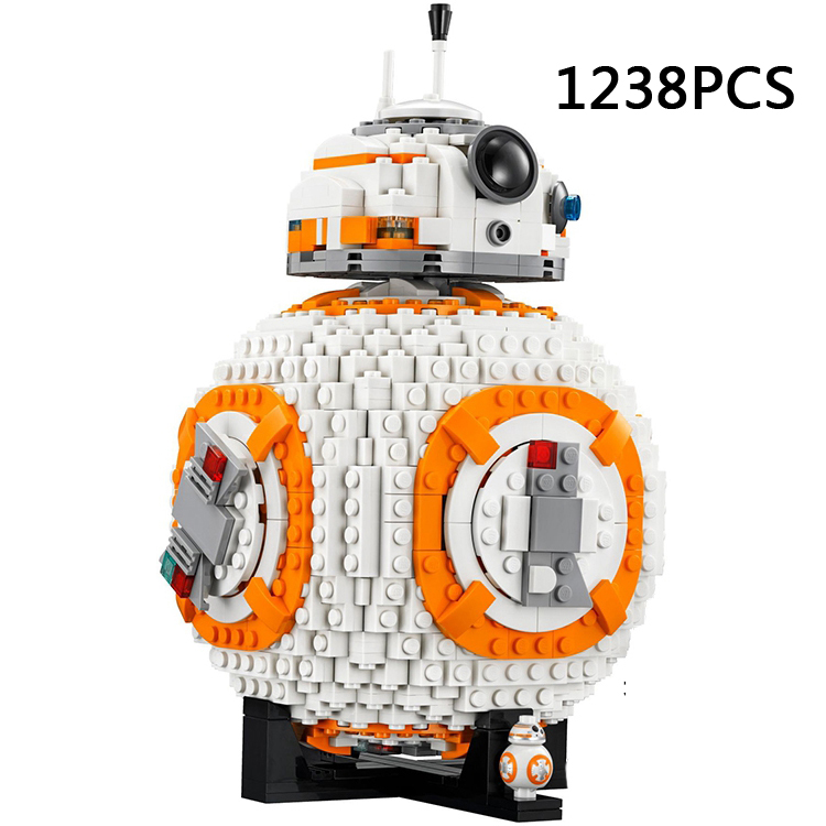 Hot Space Star Battle Bb8 Model Building Block Bb-8 Super Robot Figures Bricks 75187 Toys Collection for Children Adult Gifts hot funland merry go round building block with motor figures whirligig bricks 10196 model electric toys collection for kids gfit
