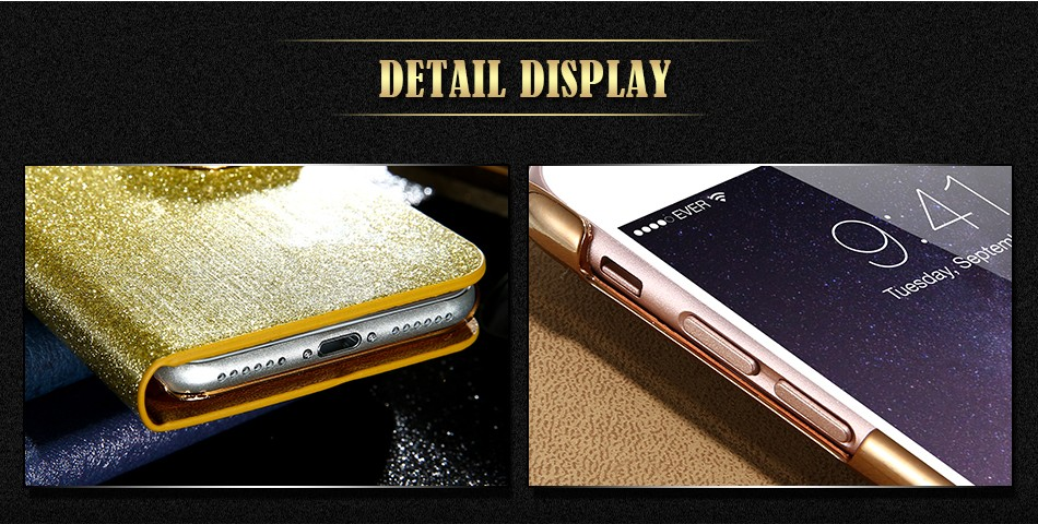 FLOVEME Luxury Bling Diamond Glitter Flip Case for Apple iphone 6 6S 7  Plus 5.5 Leather Girl Bag Wallet Stand Rhinestone Cover (5)