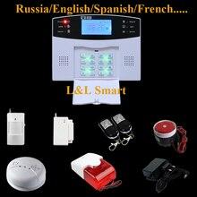 Беспроводной ЖК GSM SMS Главная Безопасность Охранная Дом Пожарной Сигнализации Автоматического Дозвона