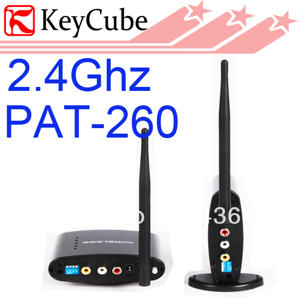 2.4G Wireless AV Transmitter With IR Remote Control wireless av sender PAT-260 UP to 350M Free Shipping