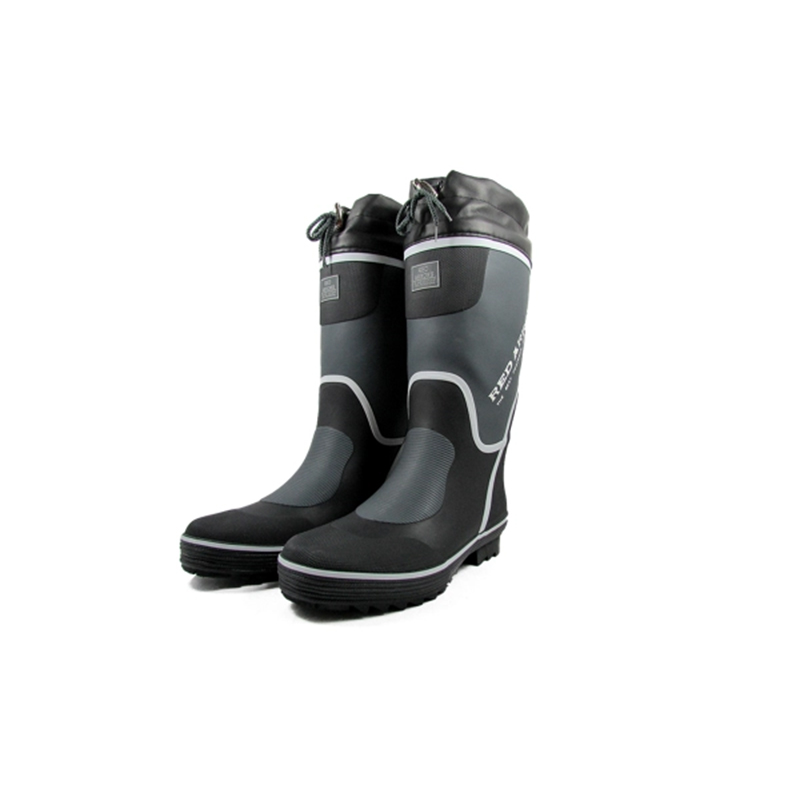 Rugged Shark Fishing Boots for Men Premium Great White Deck with All Day Comfort Footbed Size