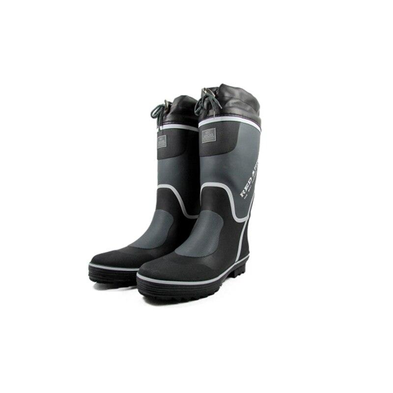 Robuste Shark Angeln Stiefel für Männer, Premium Große Weiß Deck mit Alle-Tag Komfort Fußbett, größe 38 zu 46