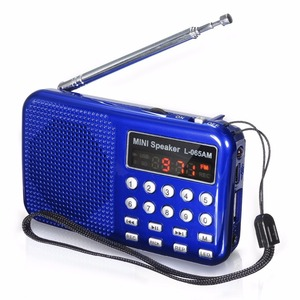 Image 2 - Leory Led Digitale Am/Fm Radio Voice Recorder Speaker Draagbare Oplaadbare Usb Tf Met Mp3 Speler Led Zaklamp
