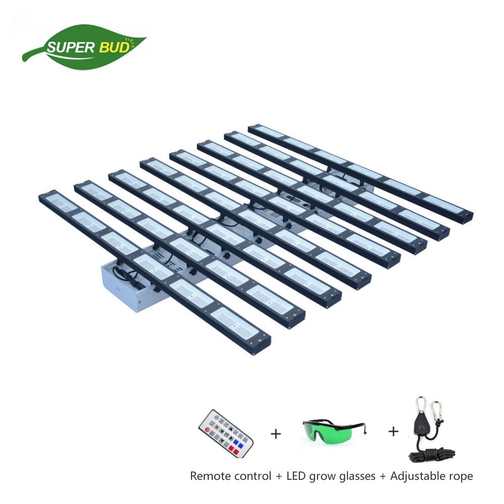 Athena X8 Più Il LED coltiva la luce bar 3000W dimmable 6144pcs Led di potenza effettiva 1032W spettro completo 5x5/6X6 crescere tenda impianto al coperto