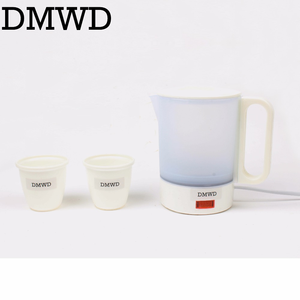 DMWD Mini Electric Kettle Travel water Heating Cup household student teapot 0.5L 220-240V small portable boiler tea pot EU plug high quality electric kettle double wall insulation quick heating digital electric thermos water boiler home appliances for tea